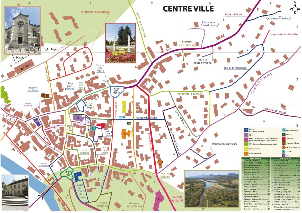 Acc s et plan de saint genix sur guiers mairie de saint - Saint genix sur guiers office du tourisme ...